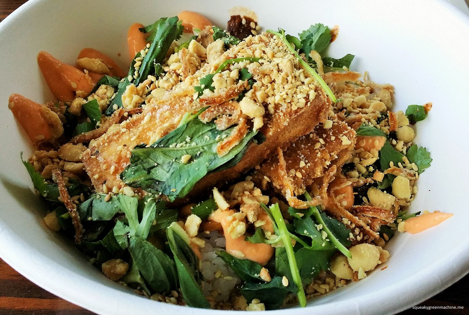 tofu rice bowl
